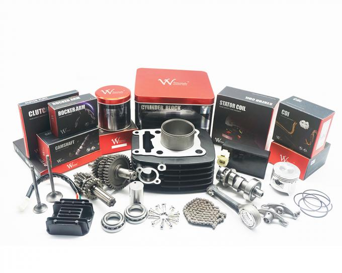 Super A  Motorcycle Piston Kits , Aluminum 3W4S Piston And Rings