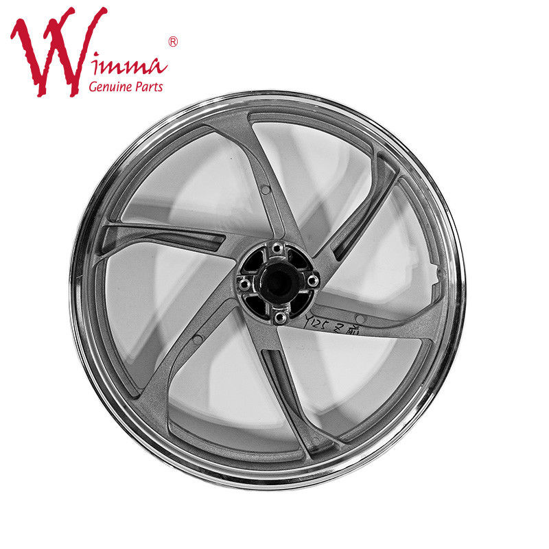 Aluminum Alloy Bajaj Three Wheeler Parts / 6 Holes Motorcycle Spoke Rim